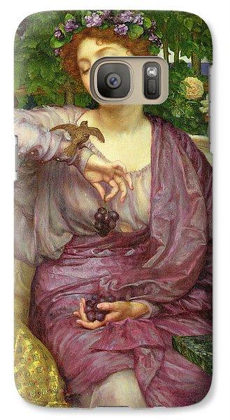 Lesbia And Her Sparrow Galaxy Case by Sir Edward John Poynter