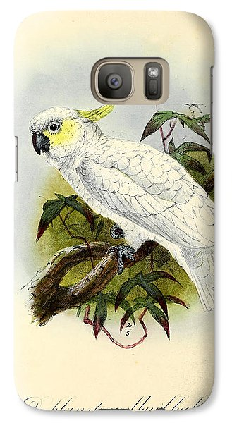 Lesser Cockatoo Galaxy Case by J G Keulemans