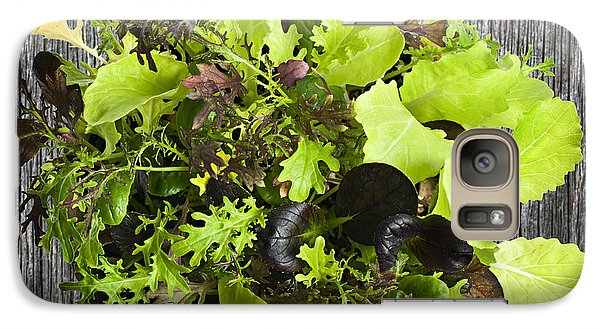 Lettuce Seedlings Galaxy S7 Case by Elena Elisseeva