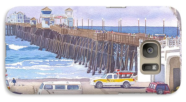 Lifeguard Trucks At Oceanside Pier Galaxy S7 Case by Mary Helmreich
