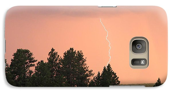 Galaxy Case featuring the photograph Lighting Strikes In Custer State Park by Bill Gabbert