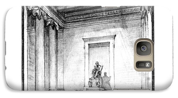 Lincoln Memorial Sketch IIi Galaxy Case by Gary Bodnar