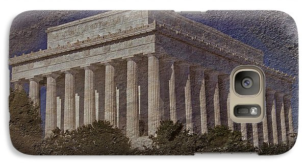 Lincoln Memorial Galaxy Case by Skip Willits