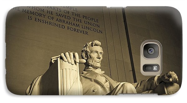 Lincoln Statue In The Lincoln Memorial Galaxy Case by Diane Diederich
