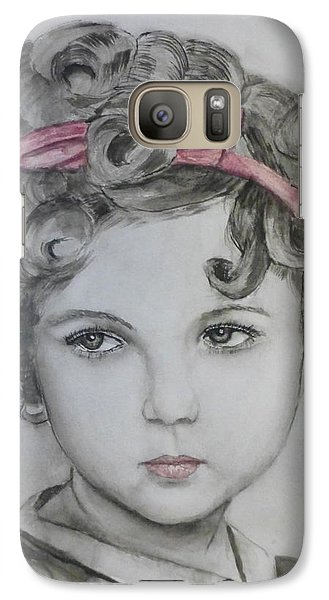 Little Shirley Temple Galaxy S7 Case by Kelly Mills