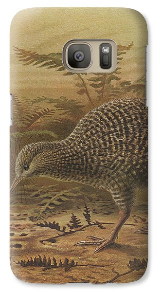 Little Spotted Kiwi Galaxy Case by J G Keulemans
