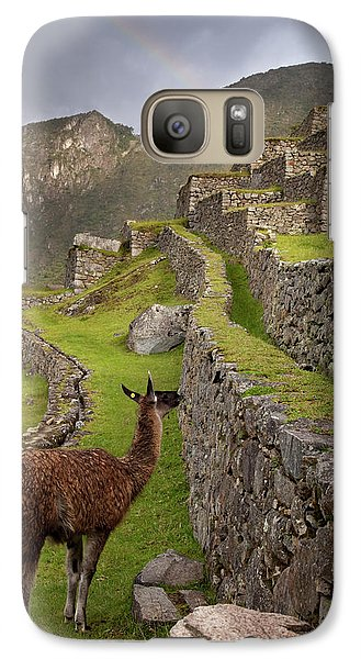 Llama Stands On Agricultural Terraces Galaxy S7 Case by Jaynes Gallery