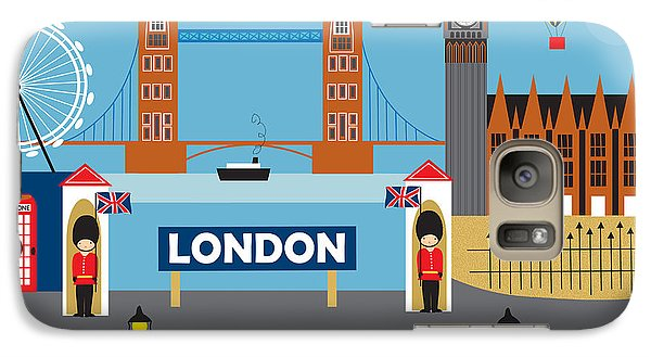 London England Skyline Style O-lon Galaxy Case by Karen Young