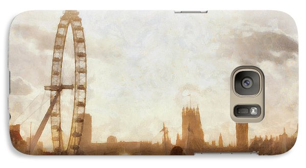 London Skyline At Dusk 01 Galaxy S7 Case by Pixel  Chimp