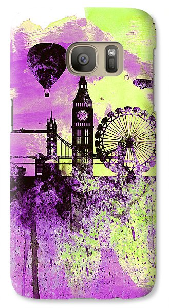 London Skyline Watercolor 1 Galaxy Case by Naxart Studio