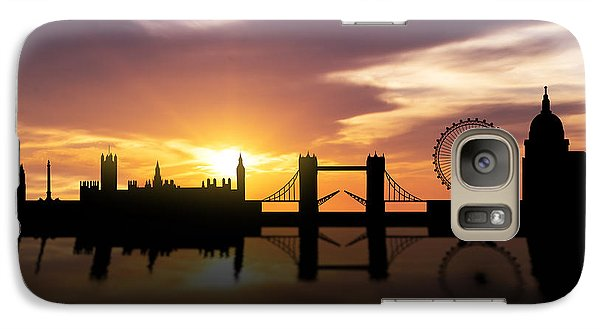 London Sunset Skyline  Galaxy S7 Case by Aged Pixel