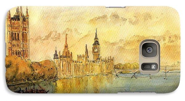 London Thames River Galaxy Case by Juan  Bosco