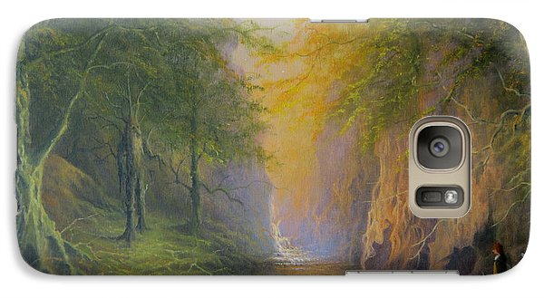 Lord Of The Rings Fangorn Treebeard Merry And Pippin Galaxy S7 Case by Joe  Gilronan