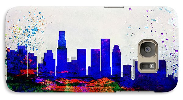 Los Angeles City Skyline Galaxy Case by Naxart Studio
