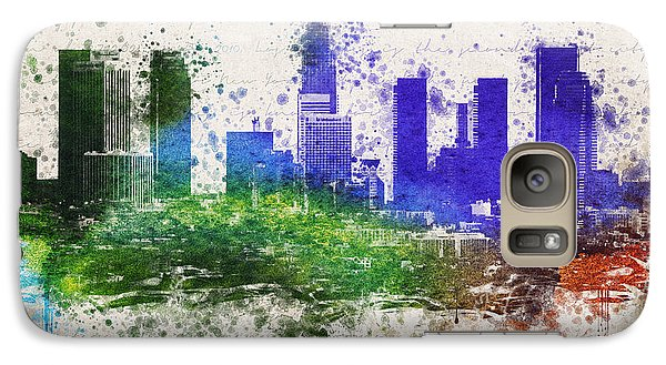 Los Angeles In Color  Galaxy Case by Aged Pixel