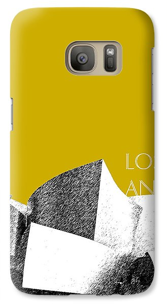 Los Angeles Skyline Disney Theater - Gold Galaxy Case by DB Artist