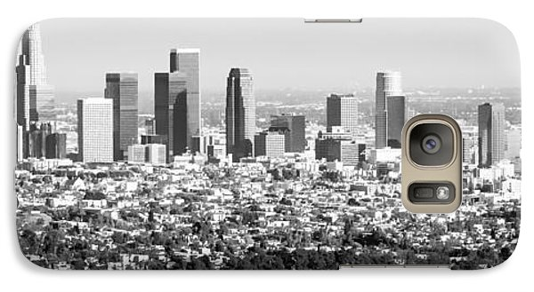 Los Angeles Skyline Panorama Photo Galaxy Case by Paul Velgos