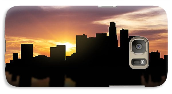 Los Angeles Sunset Skyline  Galaxy Case by Aged Pixel