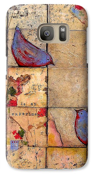 Love Birds All Life Is An Experiment Galaxy Case by Blenda Studio