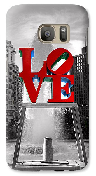 Love Isn't Always Black And White Galaxy Case by Paul Ward
