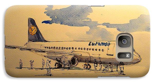 Lufthansa Plane Galaxy Case by Juan  Bosco