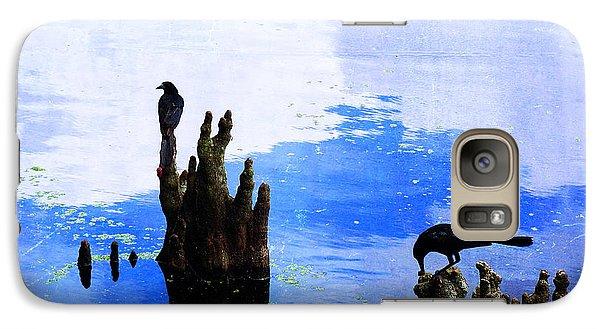 Lunch Break - Crow Art By Sharon Cummings Galaxy S7 Case by Sharon Cummings