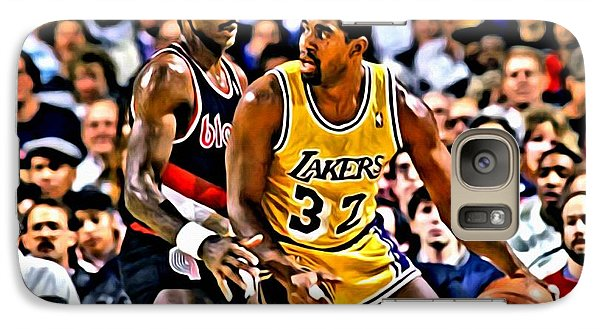 Magic Johnson Vs Clyde Drexler Galaxy Case by Florian Rodarte