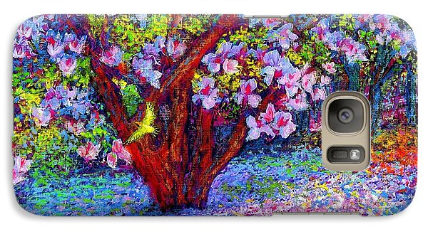 Magnolia Melody Galaxy Case by Jane Small