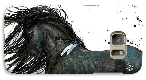 Majestic Friesian Horse 112 Galaxy Case by AmyLyn Bihrle