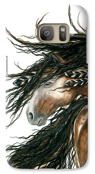 Majestic Pinto Horse 80 Galaxy Case by AmyLyn Bihrle