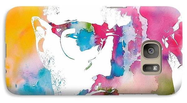 Malcolm X Watercolor Galaxy S7 Case by Dan Sproul