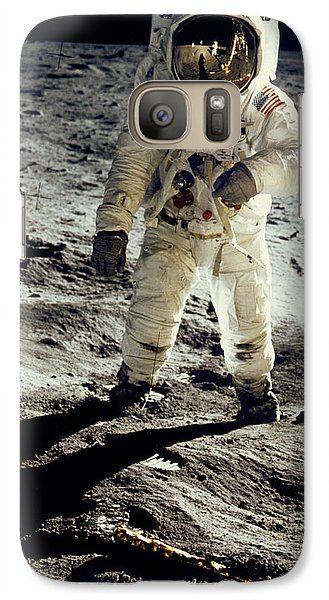 Man On The Moon Galaxy Case by Neil Armstrong/Underwood Archive