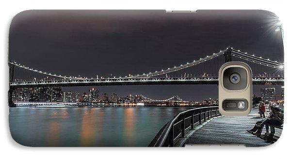 Manhattan Bridge - New York - Usa 2 Galaxy Case by Larry Marshall