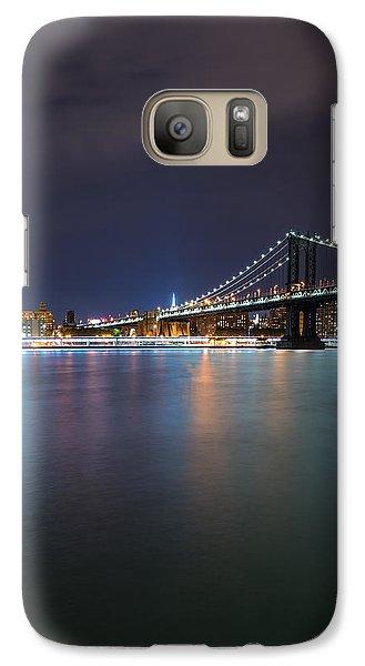 Manhattan Bridge - New York - Usa Galaxy Case by Larry Marshall