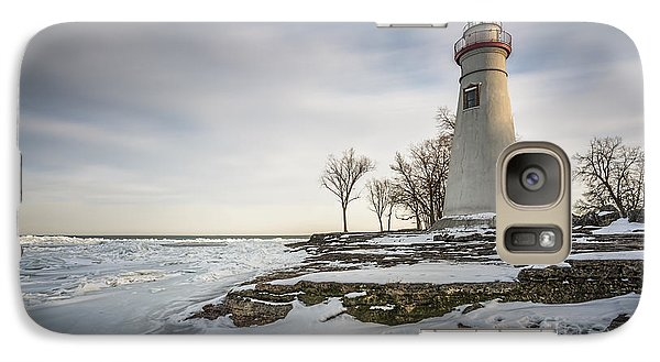 Marblehead Lighthouse Winter Galaxy S7 Case by James Dean
