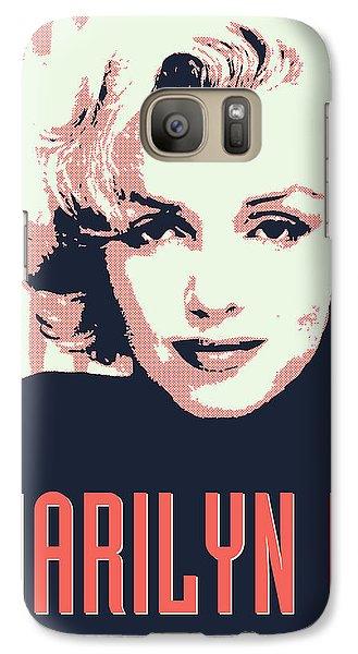 Marilyn M Galaxy S7 Case by Chungkong Art