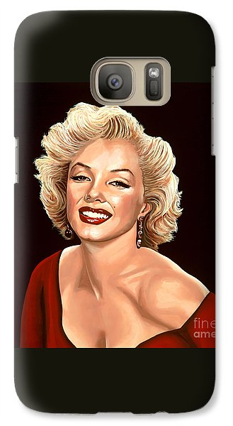 Marilyn Monroe 3 Galaxy S7 Case by Paul Meijering