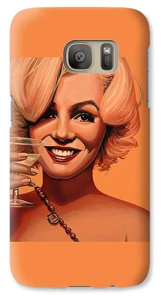 Marilyn Monroe 5 Galaxy S7 Case by Paul Meijering
