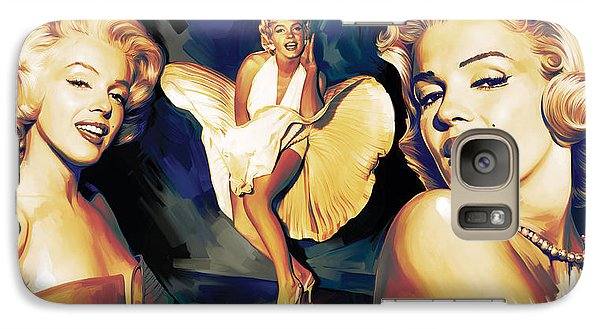 Marilyn Monroe Artwork 3 Galaxy Case by Sheraz A