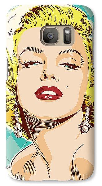 Marilyn Monroe Pop Art Galaxy S7 Case by Jim Zahniser