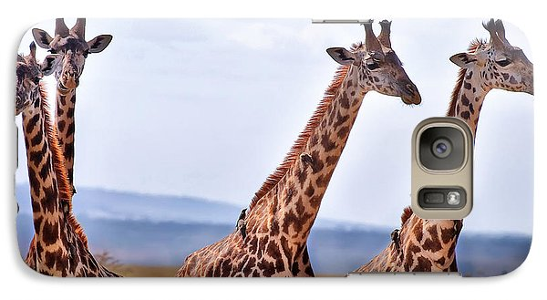 Masai Giraffe Galaxy Case by Adam Romanowicz