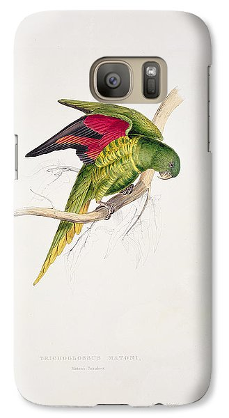 Matons Parakeet Galaxy S7 Case by Edward Lear