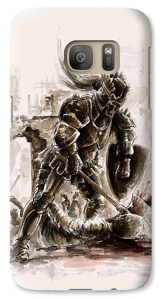 Medieval Knight Galaxy Case by Mariusz Szmerdt