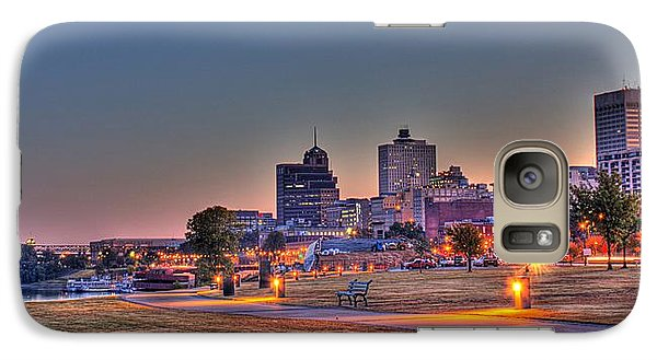 Cityscape - Skyline - Memphis At Dawn Galaxy S7 Case by Barry Jones