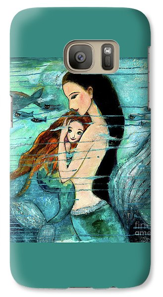 Mermaid Mother And Child Galaxy S7 Case by Shijun Munns