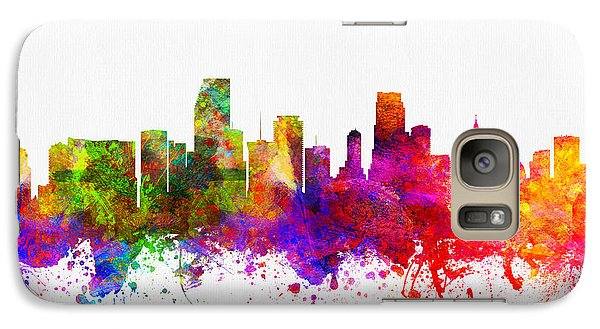 Miami Florida Skyline Galaxy Case by Aged Pixel