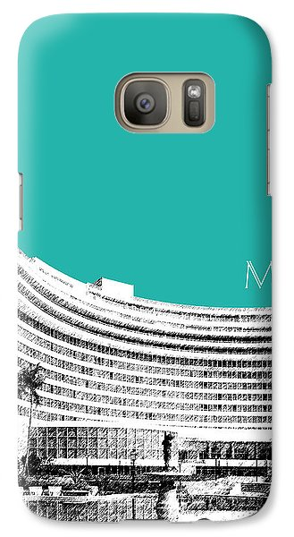 Miami Skyline Fontainebleau Hotel - Teal Galaxy Case by DB Artist