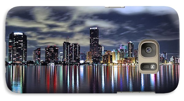 Miami Skyline Galaxy Case by Gary Dean Mercer Clark