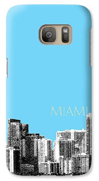 Miami Skyline - Sky Blue Galaxy S7 Case by DB Artist