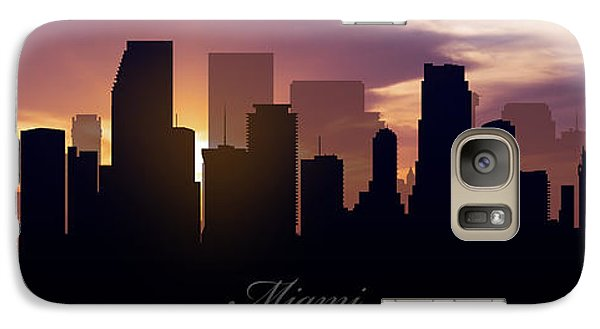 Miami Sunset Galaxy Case by Aged Pixel
